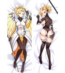 Overwatch OW Mercy Anime Dakimakura Pillow Cover