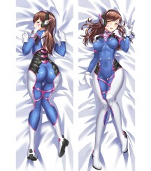 Overwatch OW D.Va Hana Song Anime Dakimakura Pillow Cover