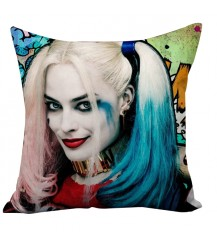 Suicide Squad Margot Robbie Harley Quinn And Joker Cushion Case Throw Pillow Cover