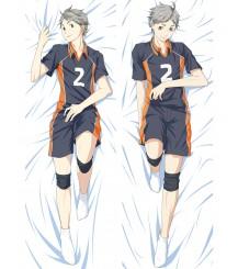 Haikyu!!Karasuno High School Koshi Sugawara Anime Dakimakura Pillow Cover