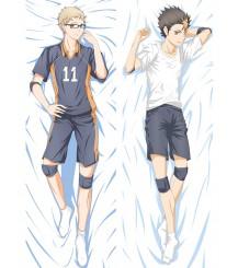 Haikyu!!Karasuno High School Yū Nishinoya Kei Tsukishima Anime Dakimakura Pillow Cover