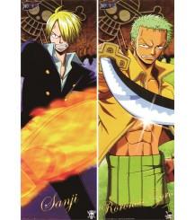 One Piece - Roronoa Zoro + Sanji Pillow Cover