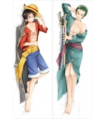 One Piece Monkey D. Luffy&Roronoa Zoro Anime Dakimakura Pillow Case