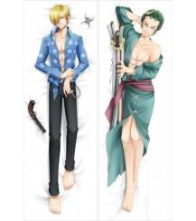 One Piece Vinsmoke Sanji &Roronoa Zoro Anime Dakimakura Pillow Case