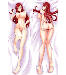 Fairy Tail - Erza Scarlet with Double Sides Zipper To Make Love Anime Dakimakura Pillow Case