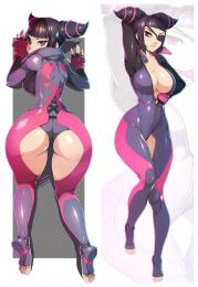 Hot Anime Game Super Street Fighter II Juri·Han Anime Dakimakura Pillow Cover