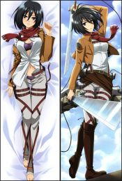 Hot Anime Attack on Titan Mikasa Ackerman Anime Dakimakura Pillow Cover