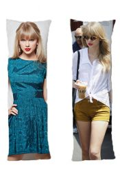Taylor Swift One or Two Side Personalized Rectangular Body Pillows from Real Person Picture It On Canvas with Zipper