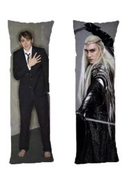 Lee Pace One or Two Side Personalized Rectangular Body Pillows from Real Person Picture It On Canvas with Zipper