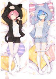 Re:Zero Starting Life in Another World Rem Ram Anime Dakimakura Pillow Cover Mgf-18075-1