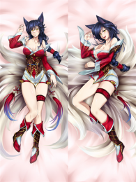 Hot Anime Game League of Legends Ahri the Nine-Tailed Fox Anime Dakimakura Pillow Cover