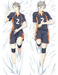 2017 New Anime Haikyuu!! Sugawara Koushi Dakimakura  Hugging Body Pillow Case Cover