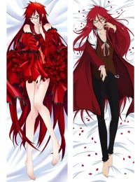 2017 New Black Butler Kuroshitsuji Grell sutcliff Dakimakura Pillow Case Hugging Body