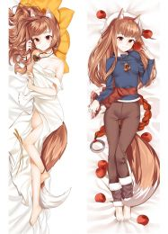 2017 New Anime Spice and Wolf Holo Cute Girl Dakimakura Pillow Cover Case Hugging Body
