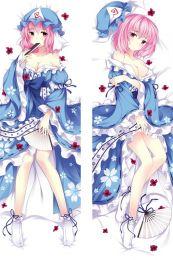 Hot Anime Game Touhou Project Saigyouji Yuyuko Anime Dakimakura Pillow Cover