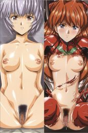 Neon Genesis Evangelion - Rei Ayanami + Asuka Langley Soryu with Double Sides Zipper To Make Love Anime Dakimakura Pillow Case