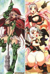 Queen's Blade - Melona Anime Dakimakura Pillow Cover