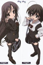 School Days - Kotonoha Katsura + Sekai Saionji Anime Dakimakura Pillow Cover