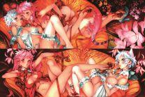 dendrobium sisters - YAMATO + Arcadia Anime Dakimakura Japanese Pillow Cover