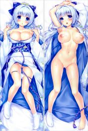 R18 galgame Boku to Suru Koi Ponkotsu Akuma anime characters Aoi Miyabi and Ayasaki Yuu Fujima pillow case body Armory of the Emir pillowcase